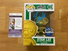 Stan Lee Signed Stan Lee Gold Funko Pop Figure Limited Edition JSA Coa