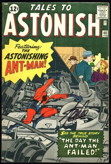 Stan Lee Signed Tales To Astonish #40 Comic Book PSA/DNA #Z05346