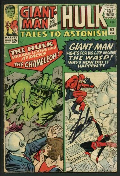 Stan Lee Signed Tales To Astonish #62 Comic Book Hulk/Giant-Man PSA/DNA #W18845