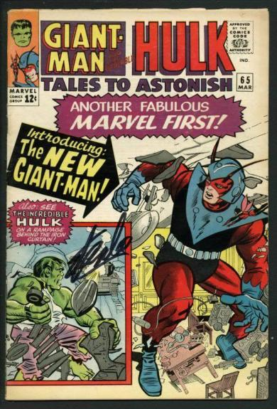 Stan Lee Signed Tales To Astonish #65 Comic Book Hulk/Giant-Man PSA/DNA #W18849