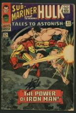Stan Lee Signed Tales To Astonish #82 Comic Book Iron Man/Submariner PSA #W18848