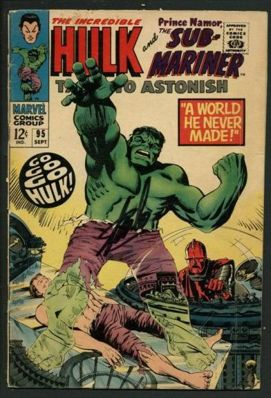 Stan Lee Signed Tales To Astonish #95 Comic Book Hulk/Submariner PSA/DNA #W18840