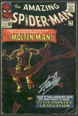 Stan Lee Signed The Amazing Spider-Man #28 Comic Book Molten Man PSA #6A20920