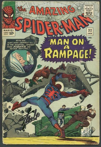 Stan Lee Signed The Amazing Spider-Man #32 Comic Book PSA/DNA #6A20945