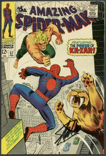 Stan Lee Signed The Amazing Spider-Man #57 Comic Book Ka-Zar PSA/DNA #6A20963