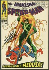 Stan Lee Signed The Amazing Spider-Man #62 Comic Book Medusa PSA/DNA #6A20962