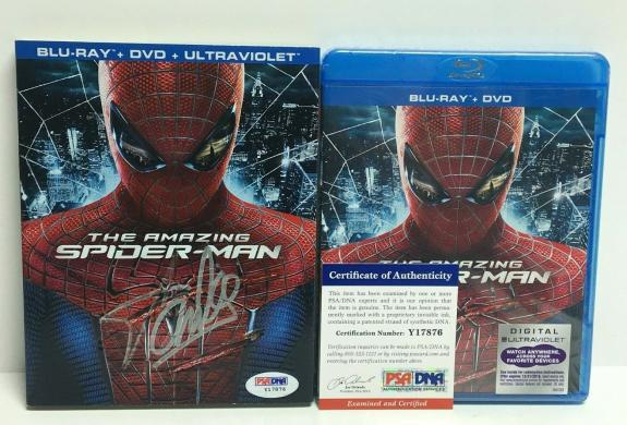 Stan Lee Signed The Amazing Spider-Man DVD PSA Y17876