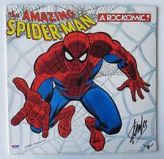 "Stan Lee Signed ""The Amazing Spiderman Authentic Album Cover (PSA/DNA) #M96895"