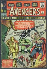 Stan Lee Signed The Avengers #1 Comic Book PSA/DNA #6A20951