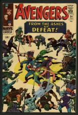 Stan Lee Signed The Avengers #24 Comic Book From The Ashes Of Defeat PSA #W18652