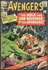 Stan Lee Signed The Avengers #3 Comic Book Hulk/Sub-Mariner PSA/DNA #6A20917