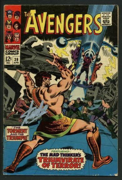 Stan Lee Signed The Avengers #39 Comic Book The Mad Thinker PSA/DNA #W18650