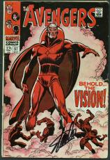 Stan Lee Signed The Avengers #57 Comic Book The Vision PSA/DNA #Z04182
