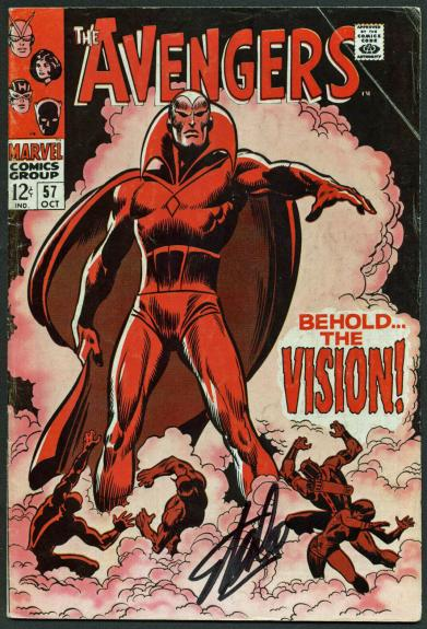 Stan Lee Signed The Avengers #57 Comic Book The Vision PSA/DNA #Z04183