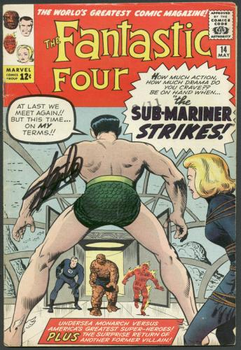 Stan Lee Signed The Fantastic Four #14 Comic Book Sub-Mariner PSA/DNA #6A20959