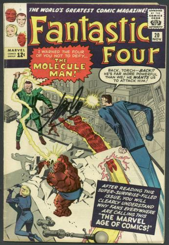 Stan Lee Signed The Fantastic Four #20 Comic Book Molecule Man PSA/DNA #6A20949