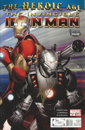 Stan Lee signed The Heroic Age: The Invincible Iron Man #27 (2010) JSA # J27084