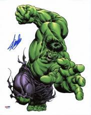 Stan Lee Signed The Hulk 11X14 Photo Marvel Comics PSA/DNA 3
