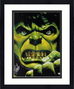 Stan Lee Signed The Hulk 16X20 Photo Marvel Comics Autograph PSA/DNA 2