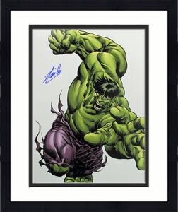 Stan Lee Signed The Hulk 16X20 Photo Marvel Comics PSA/DNA 3