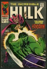 Stan Lee Signed The Incredible Hulk #107 Comic Book Mandarin PSA/DNA #W18861