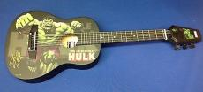 Stan Lee signed  The Incredible Hulk Marvel Acoustic Guitar PSADNA Cert # X72459