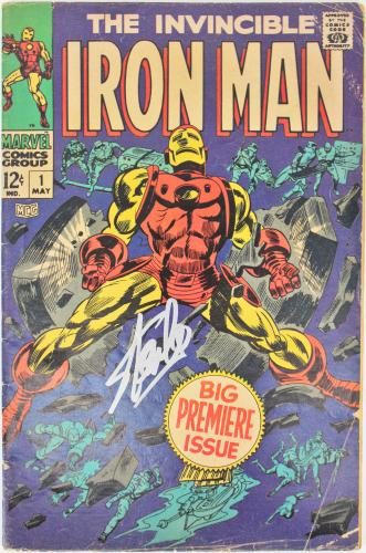 Stan Lee Signed The Invincible Iron Man #1 Comic PSA/DNA Itp #6A20968