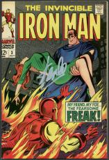Stan Lee Signed The Invincible Iron Man #3 Comic Book Freak PSA/DNA #6A20926