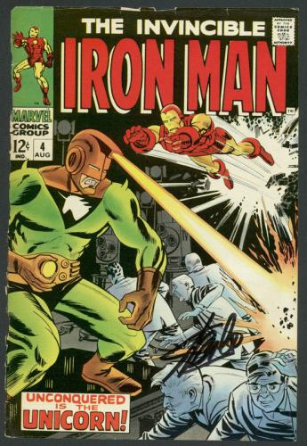 Stan Lee Signed The Invincible Iron Man #4 Comic Book Unicorn PSA/DNA #6A20964