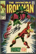 Stan Lee Signed The Invincible Iron Man #5 Comic Book PSA/DNA #6A20952