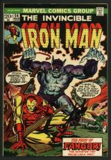 Stan Lee Signed The Invincible Iron Man #56 Comic Book Fangor PSA/DNA #W18812