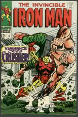 Stan Lee Signed The Invincible Iron Man #6 Comic Book Crusher PSA/DNA #6A20957