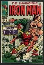 Stan Lee Signed The Invincible Iron Man #6 Comic Book The Crusher PSA #W18811