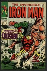 Stan Lee Signed The Invincible Iron Man #6 Comic Book The Crusher PSA #W18813