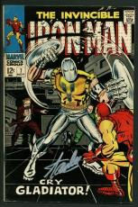 Stan Lee Signed The Invincible Iron Man #7 Comic Bookcry Gladiator PSA #W18809