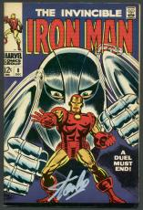 Stan Lee Signed The Invincible Iron Man #8 Comic Book PSA/DNA #6A20925