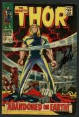 Stan Lee Signed The Mighty Thor #145 Comic Book Abandoned On Earth PSA #W18694