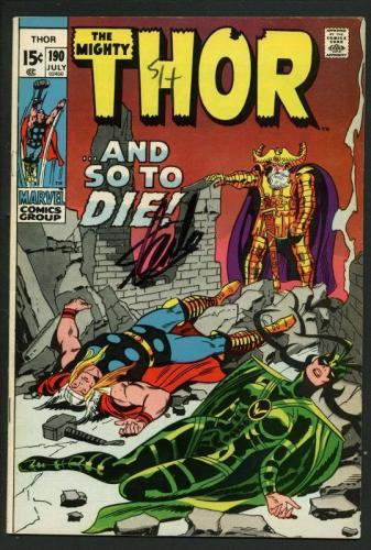 Stan Lee Signed The Mighty Thor #190 Comic Book And So To Die/Hela PSA #W18693