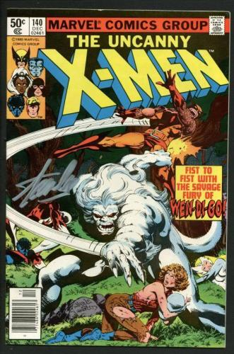 Stan Lee Signed The Uncanny X-Men #140 Comic Book 1980 Wendigo PSA/DNA #W18700