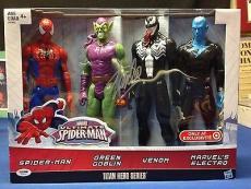 Stan Lee signed Titan Hero Series Avengers 4 Figures PSADNA  #X72610