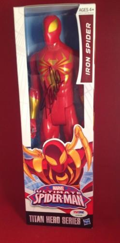 Stan Lee Signed Titan Hero Series Avengers Iron Spider Figure PSA/DNA  #X08568