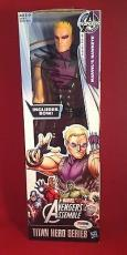 Stan Lee signed Titan Hero Series Avengers Marvels Hawkeye PSADNA  #X08559