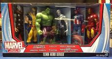 Stan Lee signed Titan Hero Series Avengers Six Figures PSADNA  #X72440
