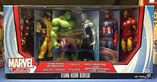 Stan Lee signed Titan Hero Series Avengers Six Figures PSADNA  #X72460