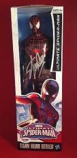 Stan Lee signed Titan Hero Series Avengers Spider-Man Figure PSADNA  #X72575