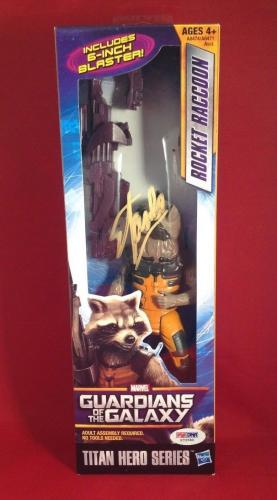 Stan Lee Signed Titan Hero Series Guardians Of The Galaxy Rocket Racon PSA