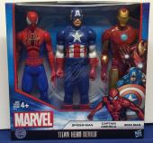 Stan Lee Signed Titan Heroes Series Iron Man Spider-Man Captin A Figure COA