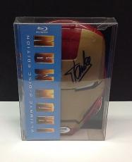 Stan Lee Signed Ultimate Edition IRON MAN Blu-Ray Movie Cover - PSA/DNA # Y36017