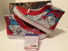 Stan Lee Signed Vans Sk8-hi Spider Man Marvel Comics Shoes Classic *RARE* PSA
