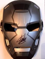 Stan Lee Signed War Machine Iron Man 1 2 3 Costume Mask W/ Stan Lee Hologram
